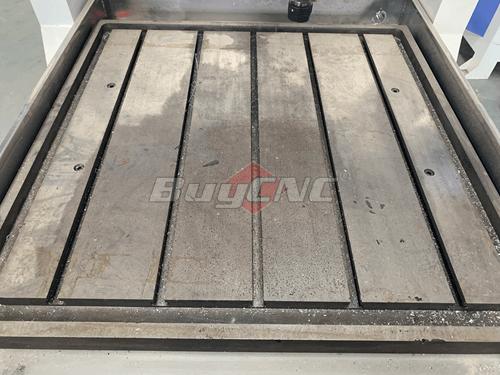 Iron cast machine table