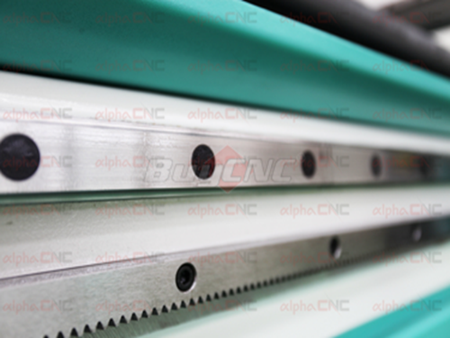 Taiwan Hiwin or PMI square rail&High quality helical rack pinion