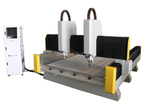 2 spindle stone cnc router